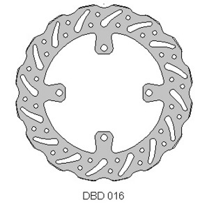 Delta MX front brake disc for Kaw KX125/250/450 KLX450 and more