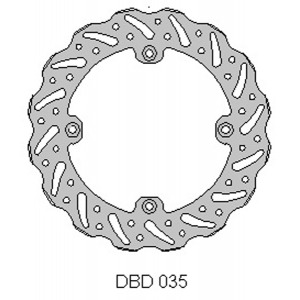 DELTA MX BRAKE DISC REAR DBD035