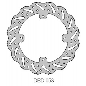 Delta MX rear brake disc for KTM85 and Freeride 11 - 16
