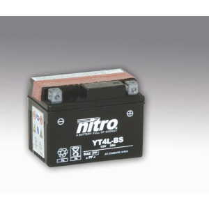 NITRO BATTERY YT4L-BS AGM open with acid pack (Case 6)(GT4L-BS)