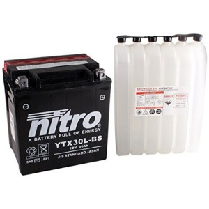 NITRO BATTERY YTX30L-BS AGM open with acid pack (CASE 2) (GTX30L-BS)