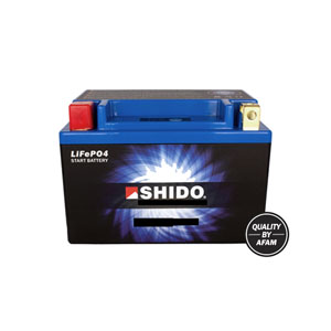 Shido Battery LTX14L-BS LiFePO4 Lithium Iron (CASE 6) (GTX14L-BS)