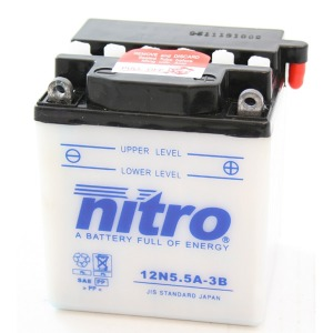 NITRO BATTERY 12N5.5A3B open with acid pack