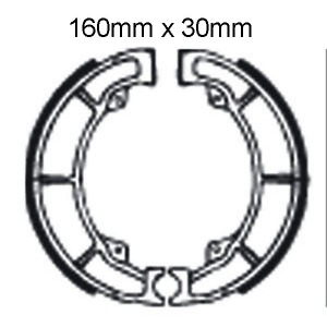 DELTA BRAKE SHOES DS86 K706 VB413