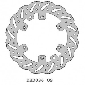 Delta MX oversize 270mm brake disc for KTM/Husky/Husaberg w speedo hole