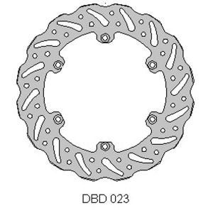 DELTA MX BRAKE DISC REAR DBD023 Suzuki RM 125/250 88-89