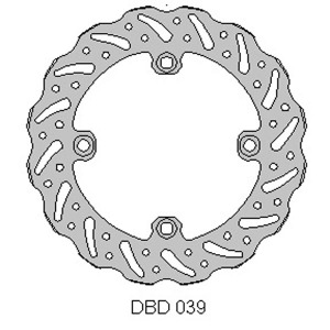 Delta MX rear brake disc for Husky CR/WR 92 - 05