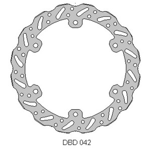 Delta MX front brake disc for TM85 01 - 13 and TM125-530 01 - 13