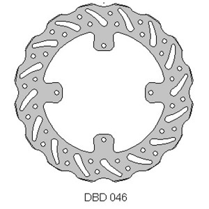 Delta rear brake disc for TM125 10 - 14 TM250 / 350 04 - 14