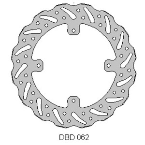 Delta front brake disc for Honda CR and XR 125 to 650's