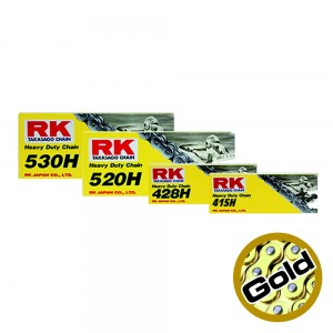 CHAIN RK GS428HSB GOLD PER LINK(100FT-2400)CLIP LINK