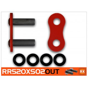 CON LINK RK 520XSO2-CLF RIVET LINK RED - PRO X-RING
