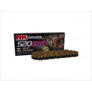 CHAIN RK GB520EXW-100 GOLD - FACTORY RACING ATV