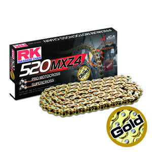 CHAIN RK GB520MXZ4 PER LINK (200FT-1920) GOLD