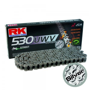 CHAIN RK GP530UWV-110 SILVER - CLASSIC BIKE X-RING