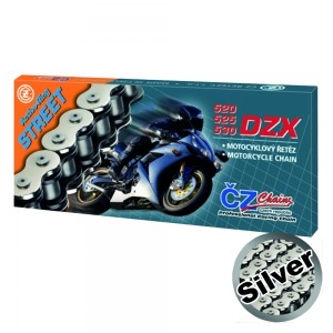 CHAIN CZ 530DZX SILVER ACTIVE RING X 100