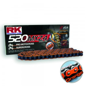 CHAIN RK ORANGE-520MXZ4-120 ORANGE