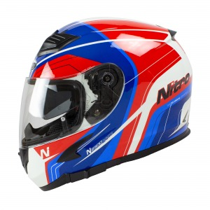Helmet Nitro N2300 Pioneer White/Red/Blue XL - 62