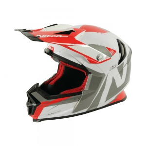 Helmet Nitro NRS - MX Advance White / Red / Gunmetal XS - 54