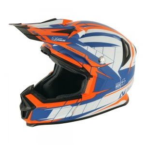 Helmet Nitro NRS - MX Lithium White / Blue / Orange XXL - 64