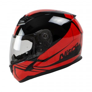 Helmet Nitro N2400 Rogue Blk/Red Pin Lock Ready L 60