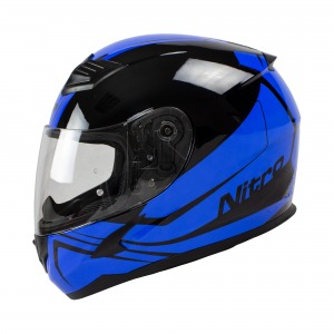 Helmet Nitro N2400 Rogue Blk/Blu Pin Lock Ready M 58