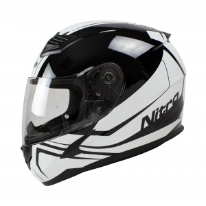 Helmet Nitro N2400 Rogue Blk/White Pin Lock Ready Xs 54