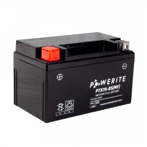 Battery Powerite PTX7ABS-12V MF - Factory Activated Sealed (Case 8)