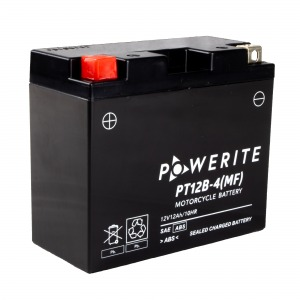 Battery Powerite PT12B4-12V MF - Factory Activated Sealed (Case 10)