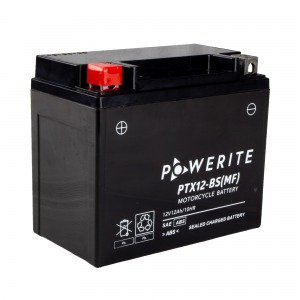 Battery Powerite PTX12BS-12V MF - Factory Activated Sealed