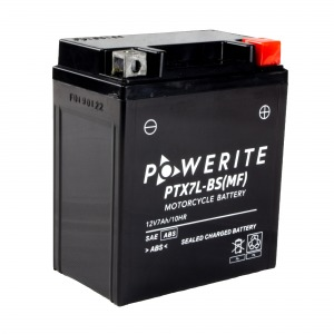 Battery Powerite PTX7LBS-12V MF - Factory Activated Sealed (Case 8)