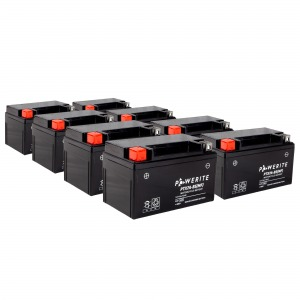 PW-Battery PTX7A-BS 12V Sealed Battery Case of 8
