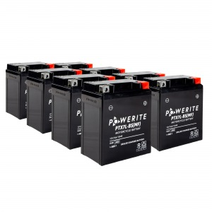 Battery Powerite PTX7LBS-12V MF - Factory Activated Sealed, Full box of f 8