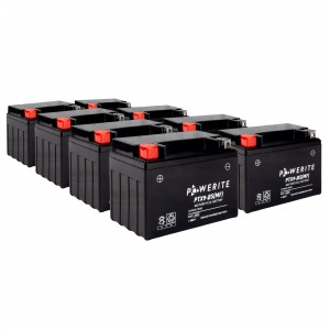 Battery Powerite PTX9BS-12V MF - Factory Activated Sealed, Full box of 8