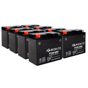 Battery Powerite PT12B4-12V MF - Factory Activated Sealed, Full box of of 8
