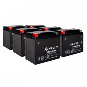 PW-Battery PTX12-BS 12V Sealed Battery Case of 6