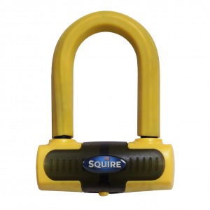 Squire Eiger Sold Secure Gold Mini Disc Lock - Yellow