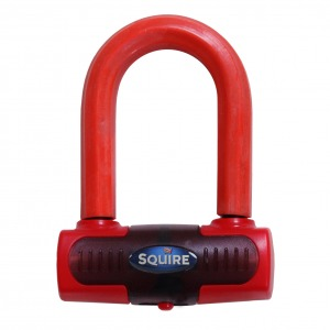 Squire Eiger Sold Secure Gold Mini Disc Lock - Red