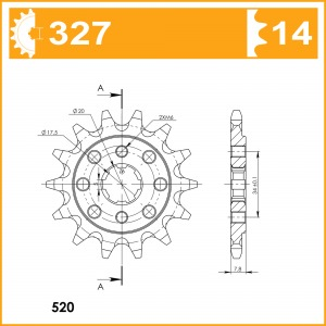 Sprockets Supersprox Mx Grooved Cst-327:14