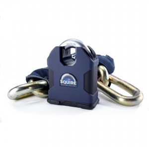 Squire Behemoth Sold secure Diamond SS100 C/S lock with 1.5 m Boron 22mm chain
