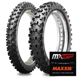 Maxxis 85cc Small Wheel MX-ST+ Tyres - Matched Pair - 70/100-17 + 90/100-14