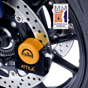 Squire Attila Diamond Sold Secure Single And Dual Disc Lock (Short Pin And Long Pin Set)
