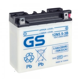 Battery GS 12N5-3B-12V - Dry Cell, Includes Acid Pack