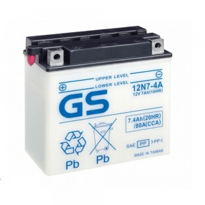 Battery GS 12N74A-12V - Dry Cell, No Acid Pack (Case 5)