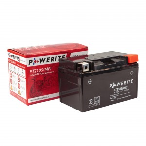 Battery Powerite PTZ10S-12V MF - Factory Activated Sealed, Full box of 8