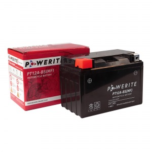 Battery Powerite PT12ABS-12V MF - Factory Activated Sealed, Full box of 8