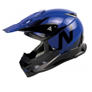 Nitro Helmet MX700 Black Blue Gloss XXL - 64