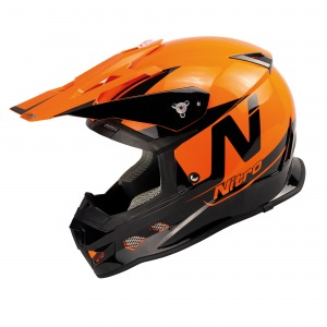 Nitro Helmet MX700 Black Orange Gloss XXL - 64