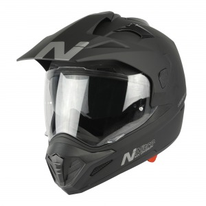 HELMET NITRO MX671 DVS SATIN BLACK PIN LOCK READY XS-54
