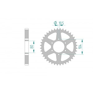 Sprocket Rear 501-33 AFAM 16601